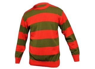 Fancy Dress Freddy Krueger Nightmare Sweater Glove Horror Jumper