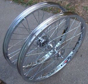 Vtg Old School BMX Chrome Araya 7x 20 x 1 75 Rims Suzue Hubs Hutch GT Haro VDC