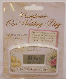 Our Wedding Day Countdown Clock and Timer Party Annoucement Married Planner