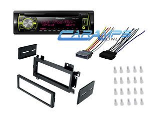 Car Stereo Radio CD Player Deck Receiver w Dash Kit Wire Harness Install Kit