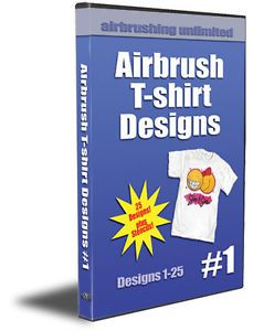 Airbrush Popular T Shirt Designs 1 Airbrushing Instructional DVD