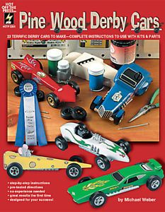 HOTP 2265 Pine Wood Derby Cars Instructional Craft Book 23 Cars New