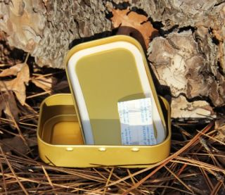 Blank Gold Metal Tin Box Survival Kit Container 10