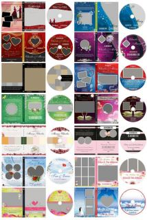 Wedding Digital DVD Covers Labels Photoshop Templates Backdrop Background Frames