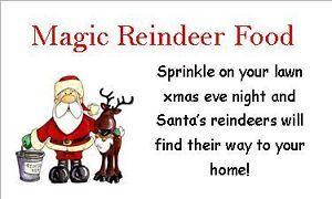 63 Reindeer Food D2 Xmas Christmas Stickers Labels Fete Great Money Maker