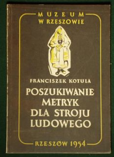 Book Polish Folk Costume Rzeszow Ethnic Dress Poland History Embroidery Fashion