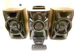 Sony Mini Hi Fi Component System with iPod iPhone Dock CD Player Radio Black