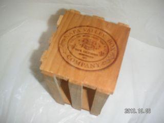 Wood Napa Valley Crate Craft Supplies Storage Organizer 20 CD Jewel Case Holder