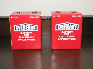 Vintage Eveready No 276 Neda 1603 9 Volt Batteries for Electronic Applications