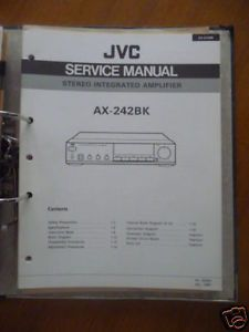 Service Manual JVC AX 242 Amplifier Original