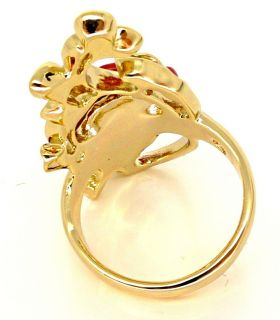 Disney Couture Snow White Gold Red Rose Ring