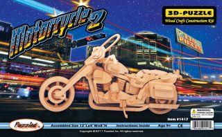 Harley Davidson Luxury Motorcycle 3D Puzzle Wood Craft Construction Kit