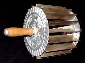 Miller Bun Divider Old Rolling Pin Dough Cutter Bakery Kitchen Utensil Tool 1907