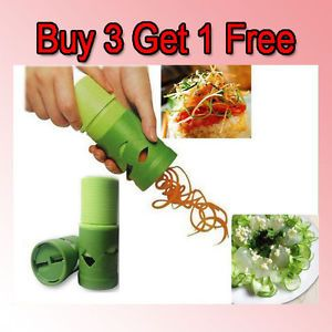 New Vegetable Fruit Veggie Twister Cutter Slicer Processing Garnish Kitchen Tool