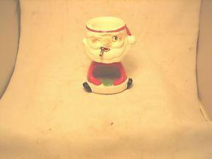 1959 Holt Howard H Japan Label Smoking Santa Claus Ashtray Cigarette Holder