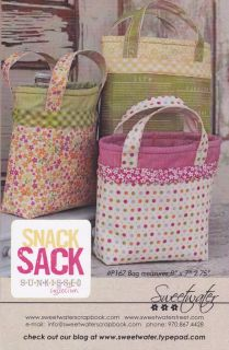 Sweetwater Bag Pattern Snack Sack