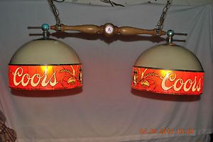 Vintage Coors Beer Lamp Light Bar Pool Table Billiards Man Cave Lamp .