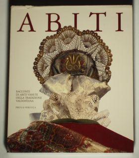 Book Italian Folk Costume Valdostana Embroidery Gold Headdress European Fashion