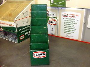 Old Texaco Gas Station Map Display Rack Holder Texaco Decal