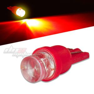 8mm Round LED T10 194 168 501 W5W Bright Red Interior Dome Light Bulb Lamp Bulbs