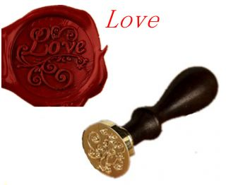 Lovers Romantic Word Love Symbol Wax Seal Stamp Letters Wedding Invitation Label