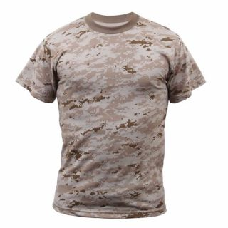 Marine Corps Marines USMC Desert Digital Camouflage T Shirt
