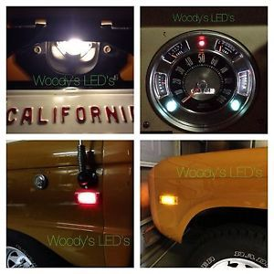 Early Ford Bronco 1966 1977 Complete Vehicle LED Light Bulb Kit 18 Bulbs