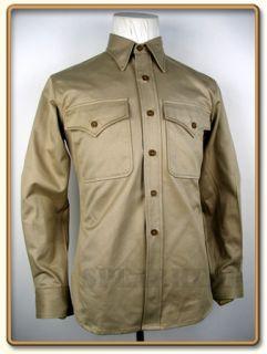 WW2 US Marine Corps Summer Service Khaki Shirt XL