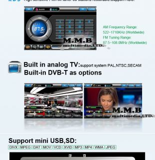 "Autoradio GPS DVB T 7"" DVD MP3 MP4 TV Renault Megane"