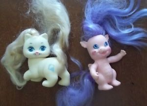 Lady Lovely Locks Lovelylocks TCFC Vintage 1986 Merry Curl Baby Dragon Cat Pink