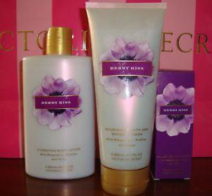 Victoria's Secret Berry Kiss Lot Lotion Cream Spray