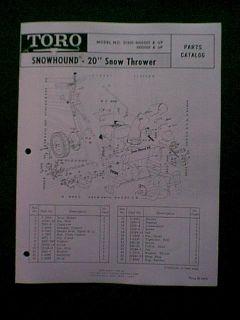 Toro Snowhound 31301 Snow Blower Snowthrower Manual