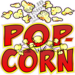 "14"" Popcorn Pop Corn Concession Trailer Bar Food Restaurant Vinyl Sign Decal"