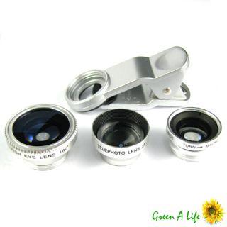Wide Macro 180° Fish Eye 2X Lens 12x Zoom Camera for Nokia Lumia 920