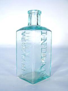Comstock Co's Indian Vegetable Elixir Vintage Antique Medicine Bottle