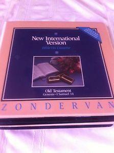 NIV Bible on Cassette Old Testament Zondervan 36 Cassettes Clamshell Cases