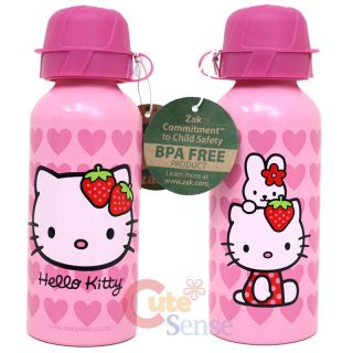 Sanrio Hello Kitty Aluminum Sports Water Bottle Container 13oz Pink Love