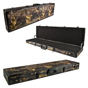 Aluminum Carrying Case Camo Hunting Rifle Gun Dual Combination Lock Security