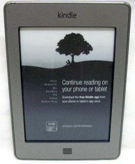 's Kindle Touch eBook Reader with Case USB Cable Original Box EXL Cond