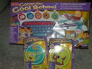 Fisher Price Fun 2 Learn Computer Cool School Scooby Doo Sponge Bob Software