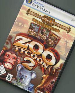 Zoo Tycoon 2 II Zoodirektor Sammlung Inkl Endangered Species Abenteuer Afrika 0882224278058