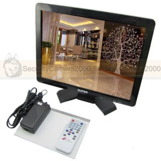 15'' LCD TFT Monitor with VGA HDMI RCA Video Audio for Security Surveillance