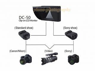 """Viltrox 5"""" DC 50 Color TFT LCD Monitor HDMI AV Input for Canon Nikon Sony DSLR"""