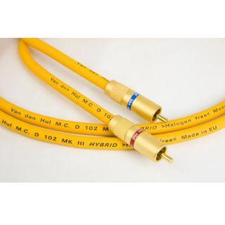 Van Den Hul The D102 MK3 1 5 M Cables Stereo RCA Cordons de Modulation D 102