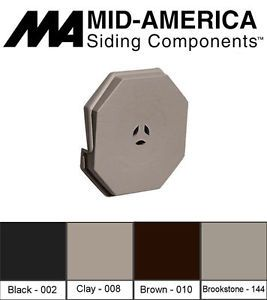 Mid America Surface Master Vinyl Siding Octagon Mount Block