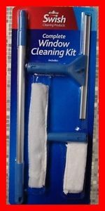 Telescopic Window Cleaning Washing Kit Equipment Pole Squeegee Washer 1 3M