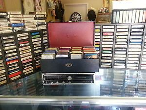 "Montgomery Ward ""Airline"" 8 Track Player 220 Cassettes Racks Etc"
