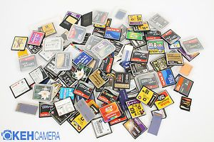 Grab Box of Assorted Compact Flash SD Memory Cards Cases Sold as Is 26361