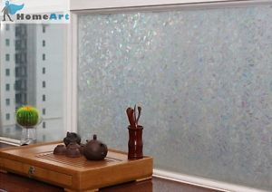 "Privacy Window Film 3D Laser Decorative Stained Glass 36""x1 6 9 ft Feet GW507"