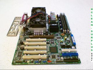 Asus PC DL Rev 1 05 Deluxe Socket 604 Motherboard w 2X Xeon 2 80GHz CPUs 3GB 0610839113392